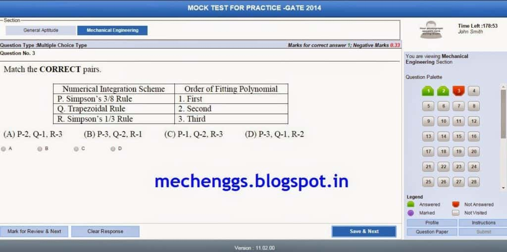 Gate Mock Test For Mechanical 2015