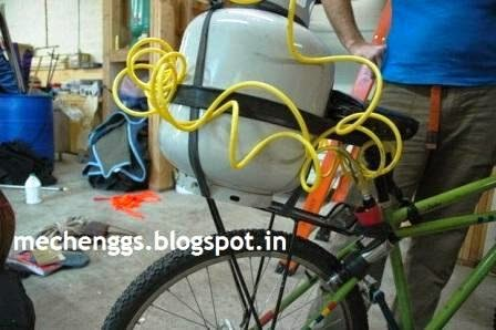 Compressed air operated bicycle