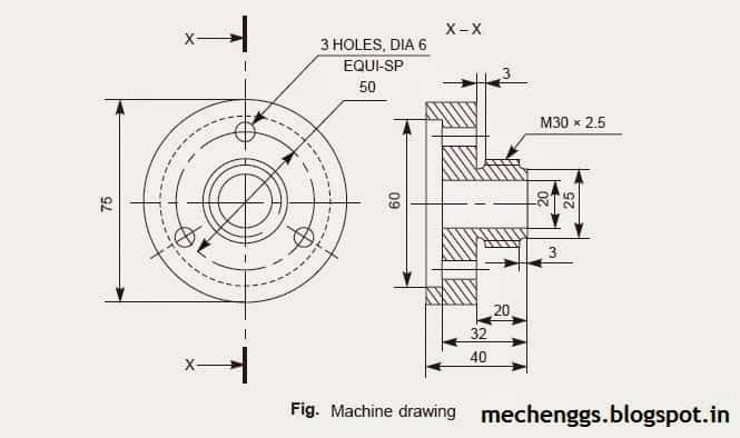 machine drawing example