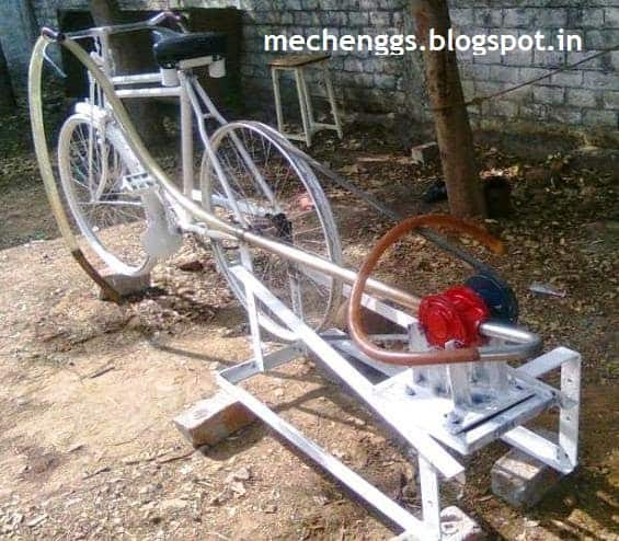 Pedal Operated Centrifugal Pump Project Mechanism