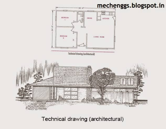 technical drawing architectural example
