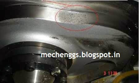 Pitting of cam surface