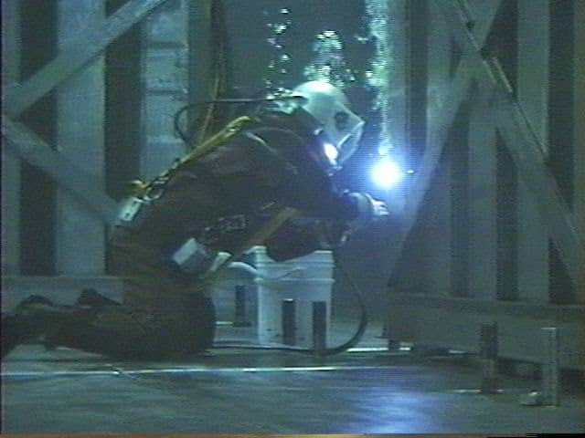 Fig. Under water welding