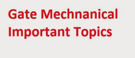ImportantGateTopicsForMechanicalEngineeringME MechanicalGateBasicConcepts