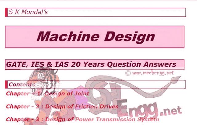 Gate 2019 Mechanical Notes- SK Mondal Free Download PDF