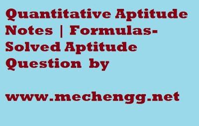 QuantitativeAptitudeNotesFormulas SolvedAptitudeQuestion