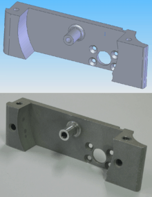 Fig. CAD Model and CNC Machined Part
