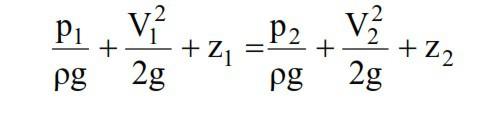 Bernoulli's equation with datum