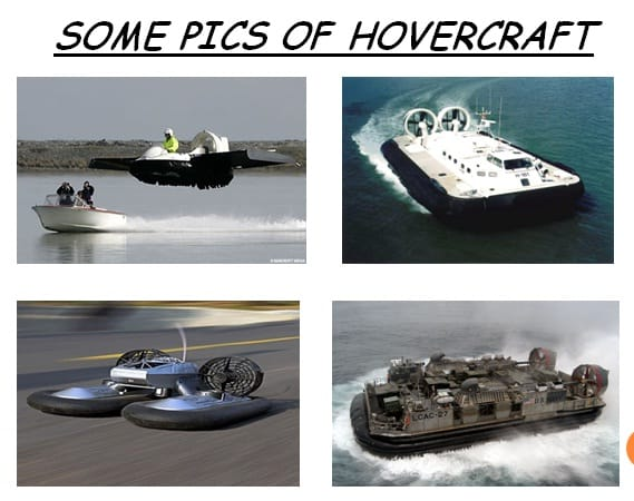 Examples Of Hovercraft Plans