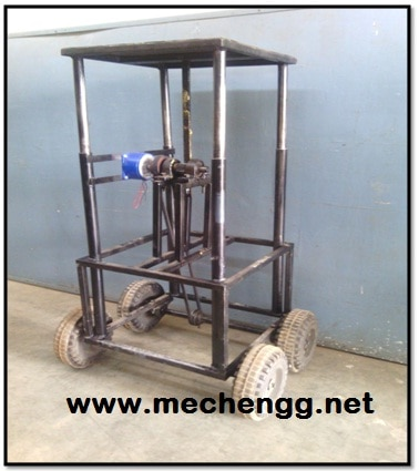 WEIGHT OPERATED MATERIAL HANDLING DEVICE mechanical Project