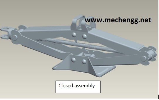 DESIGN AND ANALYSIS OF SCISSOR JACK FULL REPORT Download-Mechanical