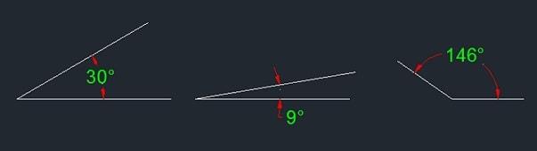 angle dimensioning