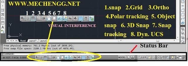 Visual Interference toolbar
