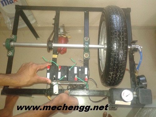 tyre inflation system model mechanical project