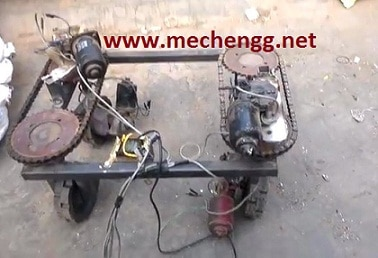 90 DEGREE STEERING SYSTEM WITH HIGH TORQUE DC MOTOR