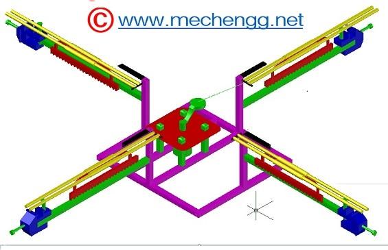 4 way Hacksaw drawing