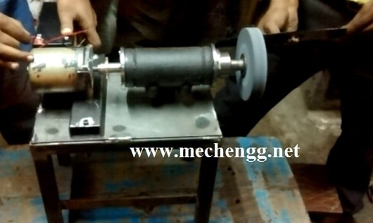 Solar Operated Grinding Machine Mechanical Project
