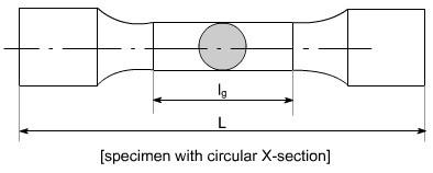 standard specimen for stress stain curve