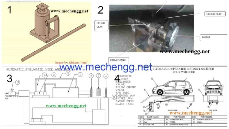 7 Hydraulic Jack Related Mechanical Projects Report Download