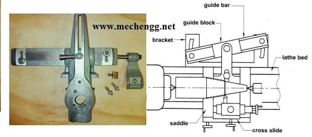 diagram of taper lathe machine