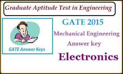 Gate Mechanical Answer key 2016