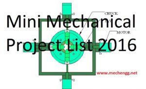 Mini -Low Cost Mechanical Project concepts ,Report Download