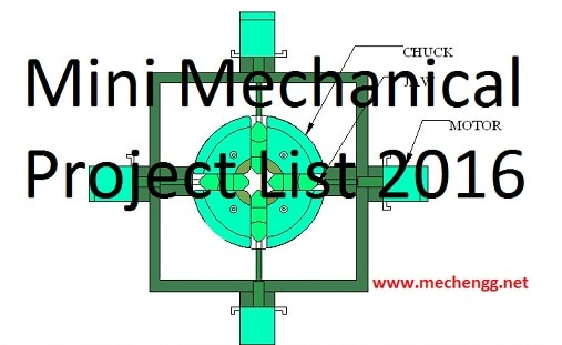 Mini Mechanical Project List  2016