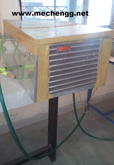 modified split cooling unit free download project report mechanical