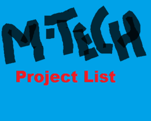 mtech me project list