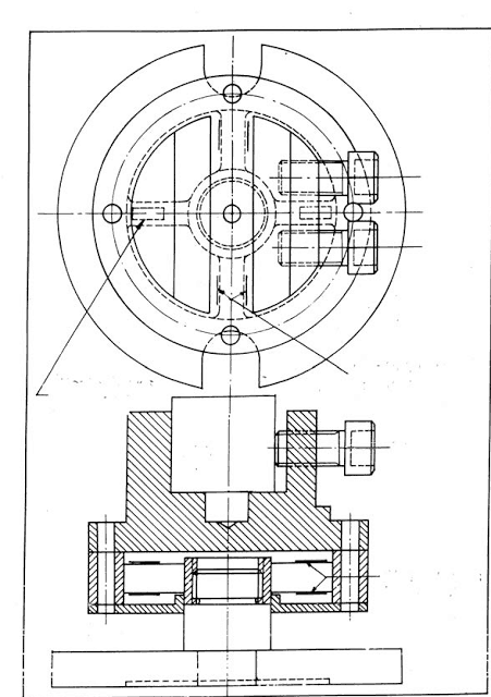 Schematic view of construction of a strain gauge type drilling dynammometer