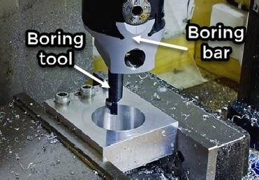 boring operation milling machine
