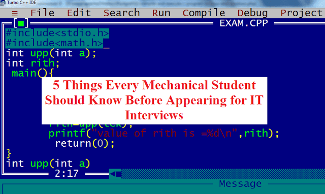 5 Things Every Mechanical Student Should Know Before Appearing for IT Interviews