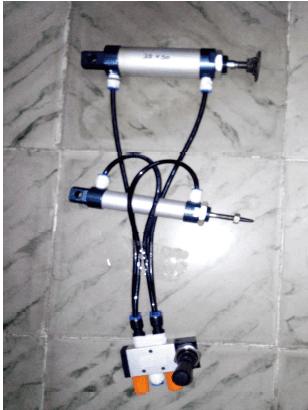 FABRICATION OF PNEUMATIC CONTROLLED RIVETTING AND PUNCHING MACHINE