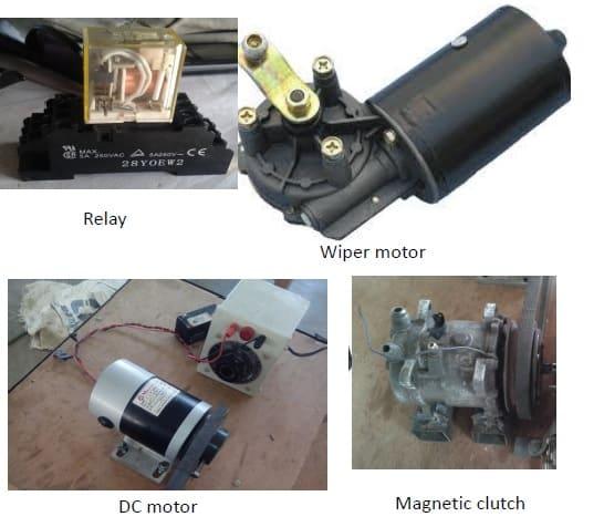relay wiper motor dc motor magntic clutch