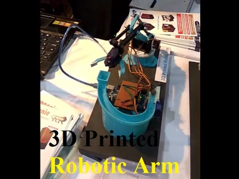 Pick And Place Robotic Arm Assembly   3D Printing Technology