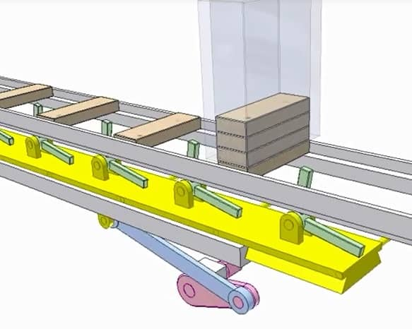 Design And Fabrication Of Industrial Conveyor Using Four Bar Mechanism