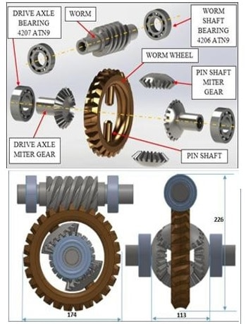 DESIGN OF AN AUTOMOTIVE DIFFERENTIAL WITH REDUCTION RATIO GREATER THAN 6