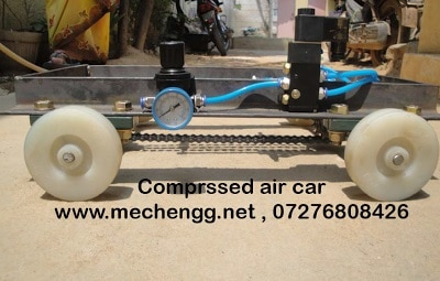 Prototype Of Air Operated Mini Car
