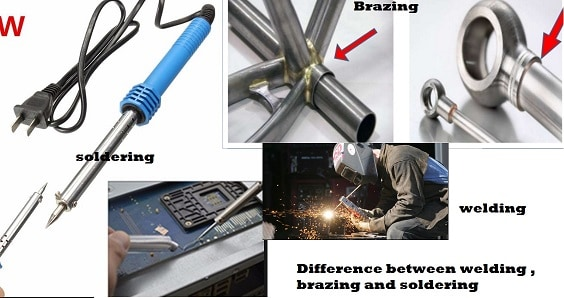 Tabular Difference Between Welding ,Soldering and Brazing Tabular Difference Between Welding ,Soldering and Brazing