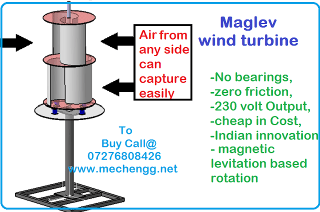 DESIGN AND FABRICATION OF MAGLEV WINDMILL