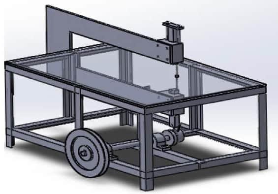 Jig saw machine -Mechanical Diploma Project