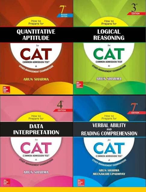 how to prepare for the cat exam set of 4 books by arun sharma original imaehcujr59gcphg