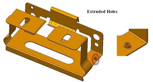 Extrude Cut ,Holes