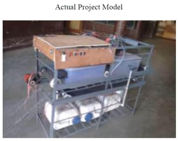 Design of basic model of semi-automatic dish washer machine
