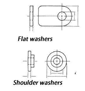 flat washers sholder washers