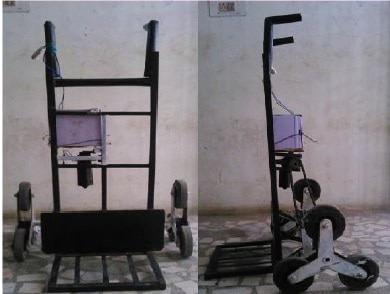 Design and Fabrication of Stair Climbing Trolley
