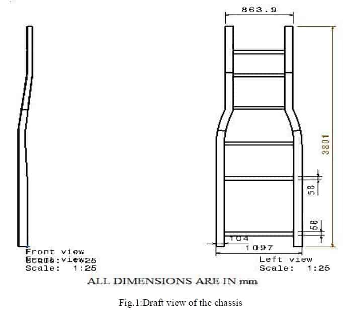 design and analysis of automobile truck chassis