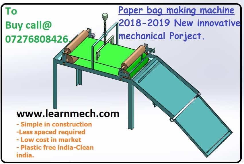 Paper Bag making Machine.