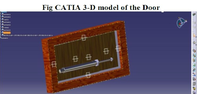 catia 3d model pnematic door open project