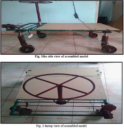 360 Degree Wheel Rotation Vehicle mechanical project
